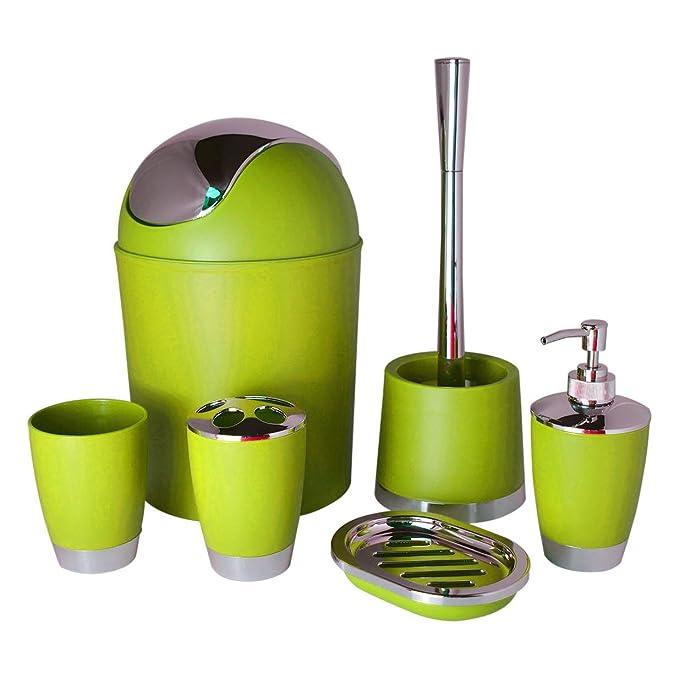5 opinioni per Bathlux, set di accessori da bagno con design moderno, 6pezzi, spazzolino per