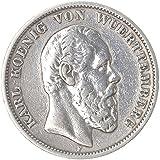 Orig Silbermünze 5 Mark 1876 G Friedrich I Baden Rarität Vzst