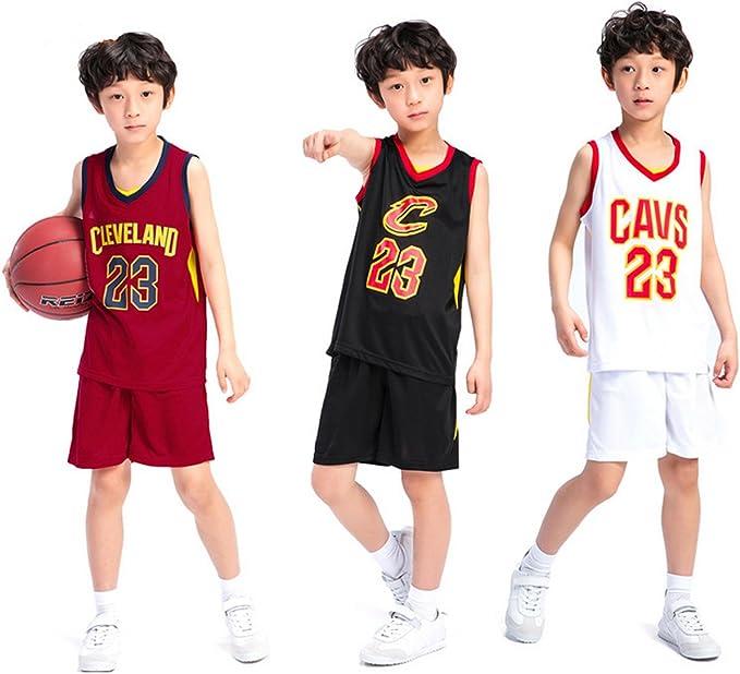 Chico Niños Hombre Cleveland Cavaliers Lebron James # 23 Pantalones Cortos de Baloncesto Camisetas de Verano Uniformes de Baloncesto Top y Corto: Amazon.es: Ropa y accesorios