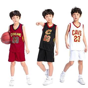 huge discount 620d0 e433b Kids Boys Cleveland Cavaliers LeBron James #23 Basketball Shorts Summer  Jerseys Basketball Uniform Top&Short