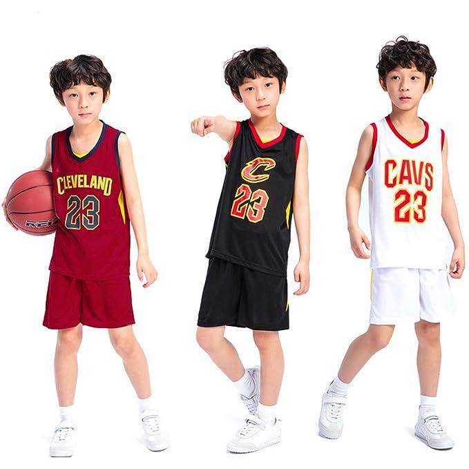 Chico Niños Hombre Cleveland Cavaliers Lebron James # 23 Pantalones Cortos de Baloncesto Camisetas de Verano Uniformes de Baloncesto Top y Corto: Amazon.es: ...
