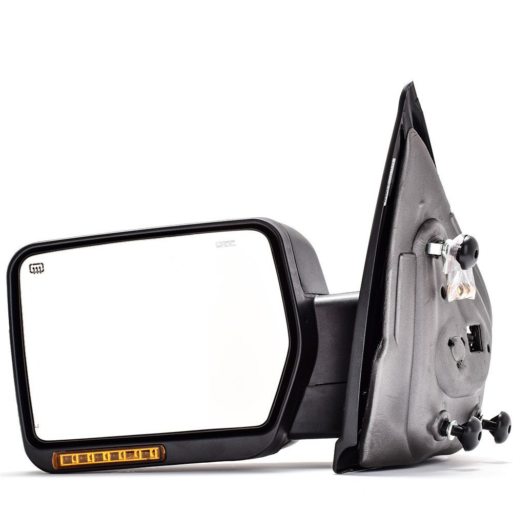 DEDC Left Driver Side Power Heated with Front Turn Signal Light Towing Mirrors for 2004-2006 Ford F150 Series by DEDC