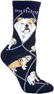 product image for Wheel House Designs Bulldog Argyle Socks (Shoe size 9-12)