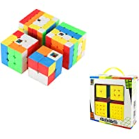 Wings of wind Speed Cube Bundle Moyu 2x2 3x3 4x4 5x5 Stickerless Bright Magic Cube Cubing Classroom Smooth Puzzles Cube Set with Gift Packing
