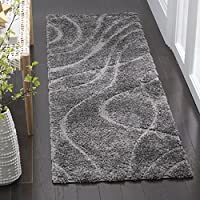 Safavieh Florida Shag Collection SG471-8080 Grey and Grey Runner (23 x 7)