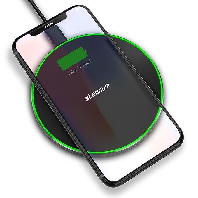 Rápido Cargador Inalámbrico, steanum Qi Wireless Pad de ...
