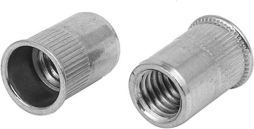 sourcingmap/® Rosca hembra M10 de acero inoxidable 304 Estriar Tuercas Remachables sujetadores 20pcs