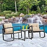 FDW Wicker Patio Furniture Sets Outdoor Bistro