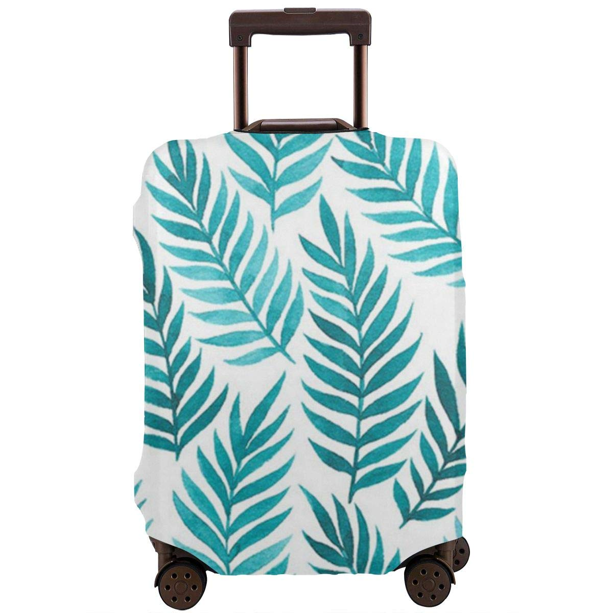 JHNDKJS Watercolor Leaves Seamless Pattern Travel Luggage Cover Baggage Suitcase Protector Fit for 12-18 Inch Luggage