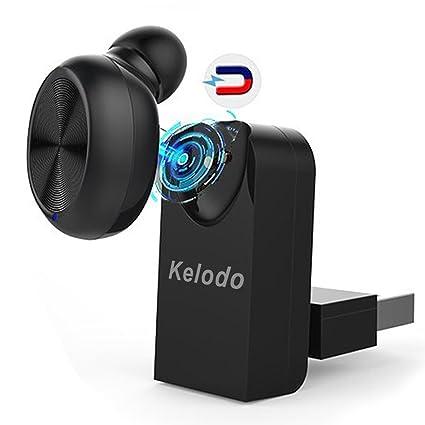 Auriculare Bluetooth Kelodo X17 con USB magnético, conexión sin cable. Mini auricular para móviles