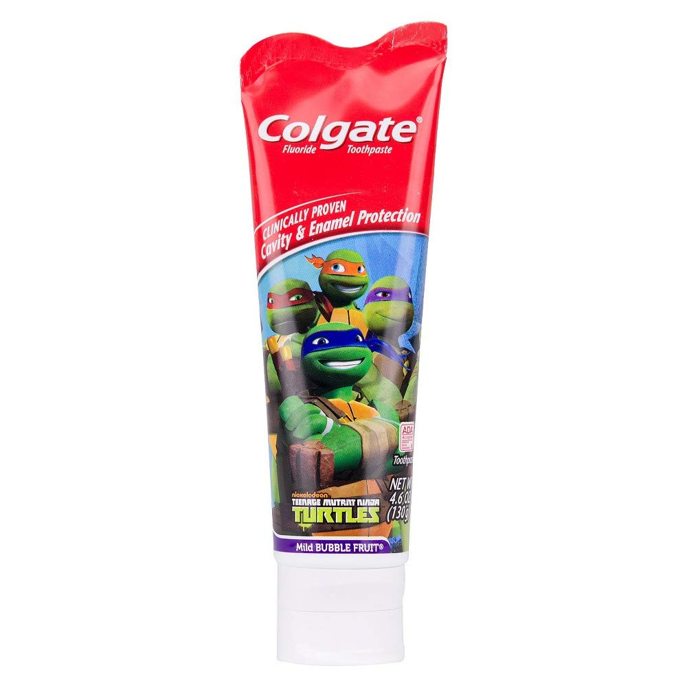 Amazon.com: Colgate Kids Teenage Mutant Ninja Turtles Toothpaste - 4.6 oz - Mild Bubble Fruit: Beauty