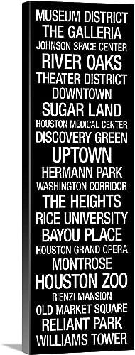 City Typography: Houston Canvas Wall Art Print