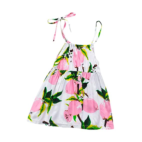 20e06377e Staron Baby Boy's Dresses Lemon Fruit Printed Strap Dress 0-6 Months Pink
