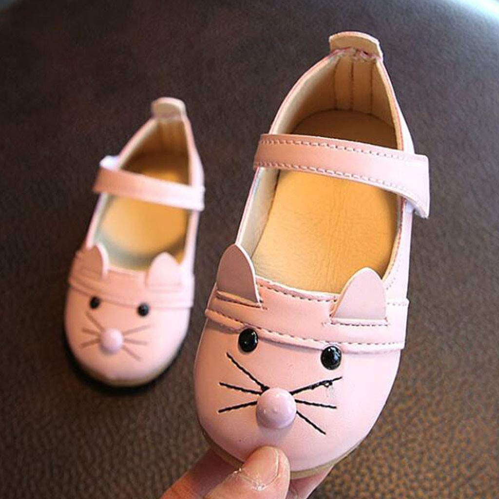 Efaster Kids Baby Girl Cartoon cat Toddler Shoes Casual Shoes Small Shoes Princess Shoes Single Shoes