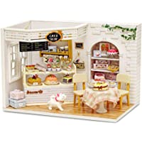 piberagi DIY Miniature Dollhouse Kit, 1:24 Scale Creative Room Mini Wooden Doll House with Furniture Plus Dust Proof for…