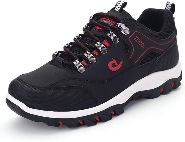 Qianliuk Hombres Senderismo Zapatos Deportes Cuero Al Aire Libre Senderismo Zapatillas Zapatillas Deporte Hombres Escalada Zapatos