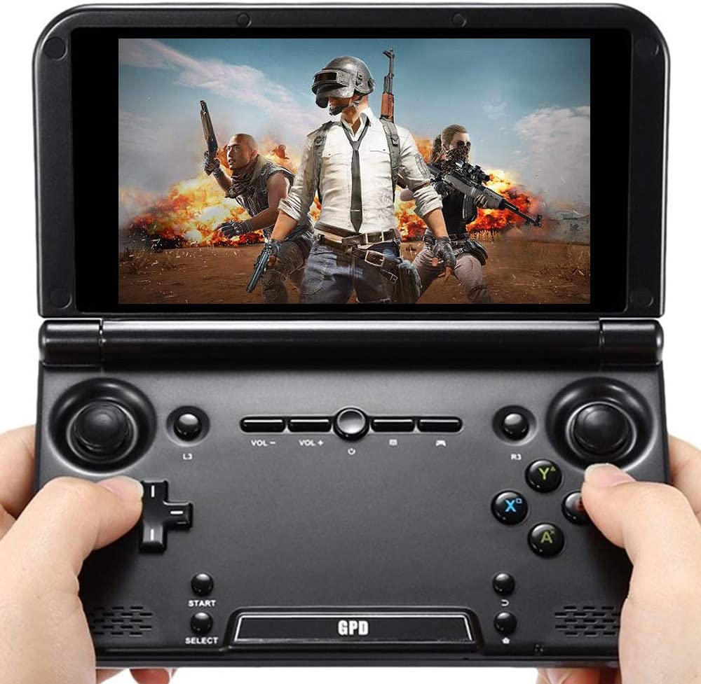 "GPD XD Plus [Latest HW Update]-Support Google Service-5"" Touchscreen Foldable Handheld Video Game Console Android 7.0 Portable Gaming Console MT8176 Hexa-core CPU,PowerVR GX6250 GPU,4GB/32GB"