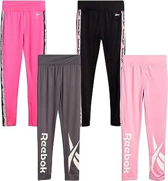 Size 10 White//Light Coral Reebok Girls 2-Piece Fleece Hoodie and Legging Athleisure Pant Set