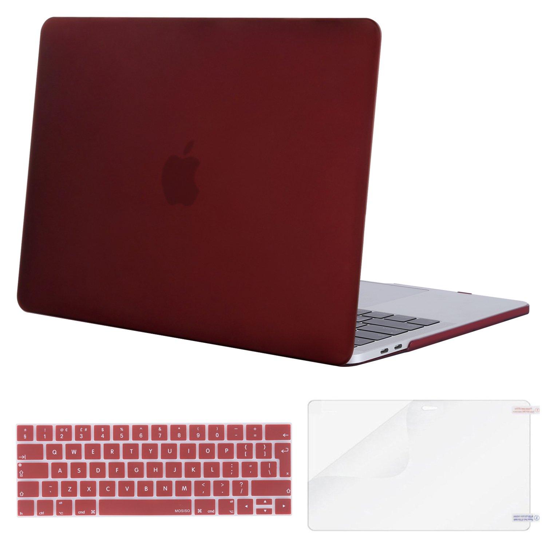Protector de Pl/ástico/&Piel de Teclado de Mismo Color/&Protector de Pantalla Gris Espacial MOSISO Funda Dura Compatible 2019 2018 2017 2016 MacBook Pro 13 con//sin Touch Bar A1989 A1706 A1708