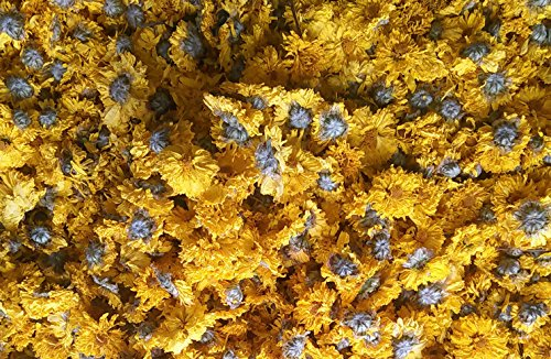 Yellow Chrysanthemum Bud Herbal Tea 750 gram, 100% natural herb enjoyed by Emperor in Ancient China