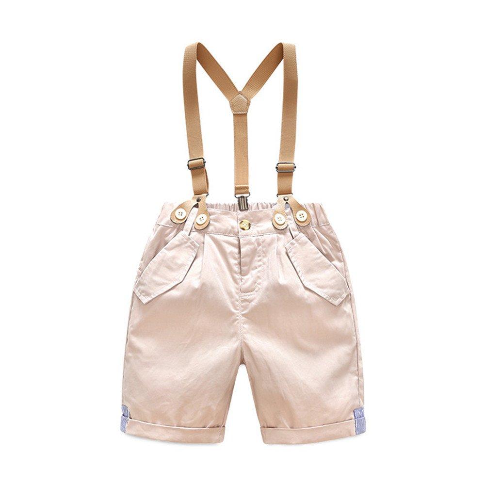 Super Kids Toddler Baby Boy Set Summer Gentleman Bowtie Short Sleeve Suspenders Shorts Outfits
