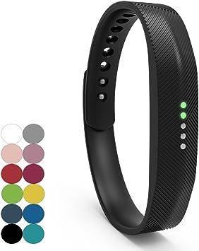 Armband für Fitbit Flex 2 Aktivitäts Tracker Fitness viele Farben und Größen