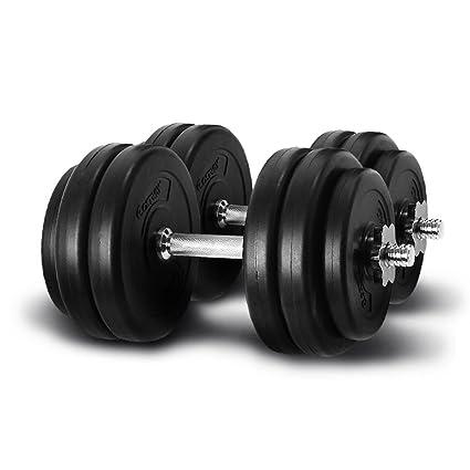 Giantex peso juego de mancuernas 66 Lb gorra ajustable gimnasio pesas entrenamiento platos