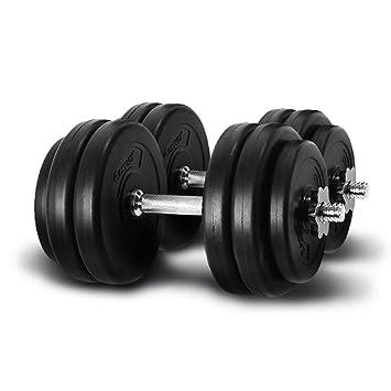 Giantex peso juego de mancuernas 66 Lb gorra ajustable gimnasio pesas entrenamiento platos: Amazon.es: Deportes y aire libre