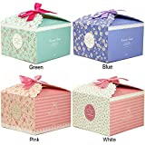Chilly Gift Boxes, Set of 12 Decorative Treats Boxes, Cake, Cookies, Goodies, Candy Handmade Bath Bombs Shower Soaps Gift Boxes Christmas, Birthdays, Holidays, Weddings (Flower Patterned)
