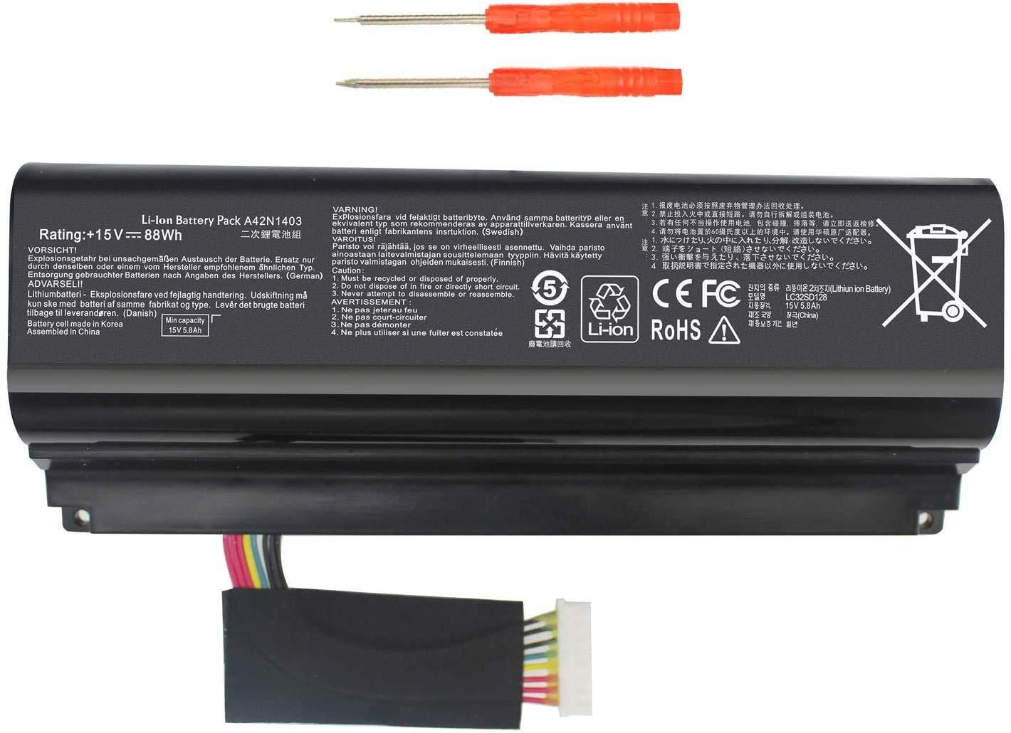 Bateria A42N1403 para ASUS ROG G751JL 17.3 G751 G751JY G751J