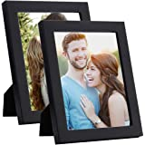 Art Street - Set of 2 Table Top Photo Frames Perfect for Family Office Table Decorations(2 Units of 4x6) -Black