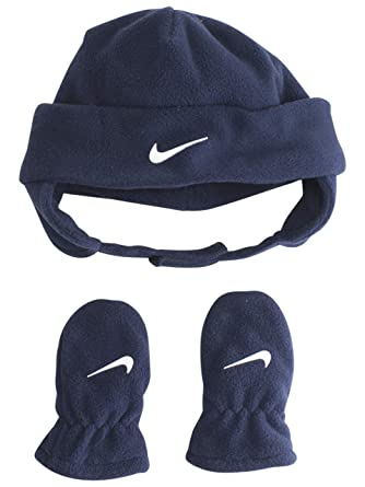 323a1ee3e60 Image Unavailable. Image not available for. Color  Nike Infant Boy s 2-Piece  Fleece Obsidian Hat   Mittens Set ...
