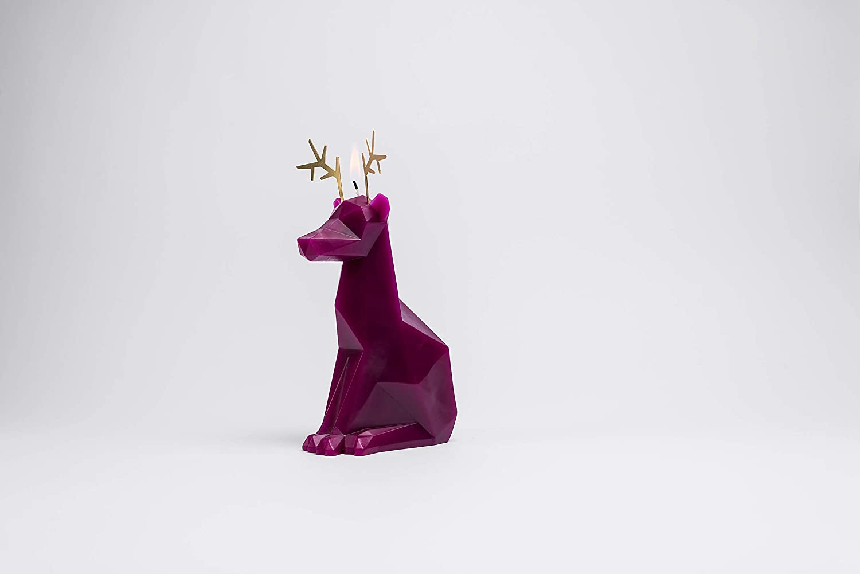 PyroPet Animal Shaped Skeleton Candles by 54 Celsius Dyri, Burgundy