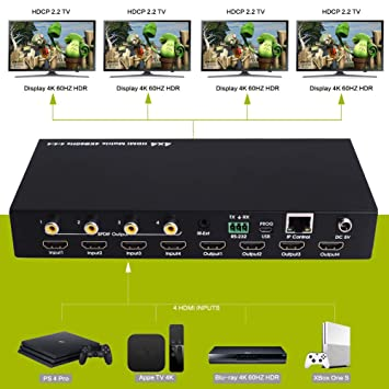 XOLORspace 46441mini 4x4 HDMI Real Matrix switcher Supports