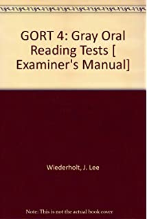 GORT-5: Gray Oral Reading Tests-Fifth Edition, Complete Kit: J ...