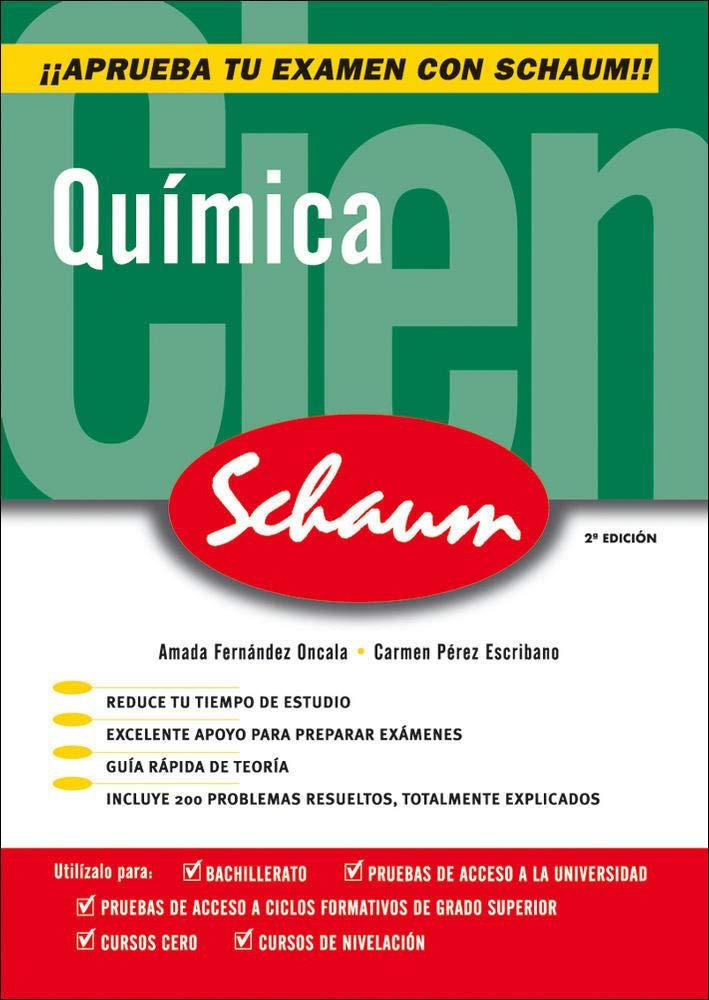 CUTR QUIMICA SCHAUM SELECTIVIDAD- CURSO CERO CASTELLANO - 9788448198510: Amazon.es: Fernández Oncala,Amada, Pérez Escribano,Carme: Libros