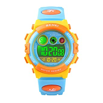 Kinder Uhr Jungen Madchen Digitaluhr Waterproof Kalender Wecker
