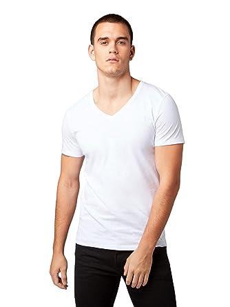 ef4d55a9fe43e6 TOM TAILOR Denim Herren T-Shirt basic v-neck doublepack  Amazon.de   Bekleidung