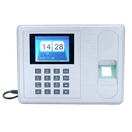 KKmoon Sistema de Huella Digital ,Registrador de Cheques del Empleado, Pantalla de 2.4