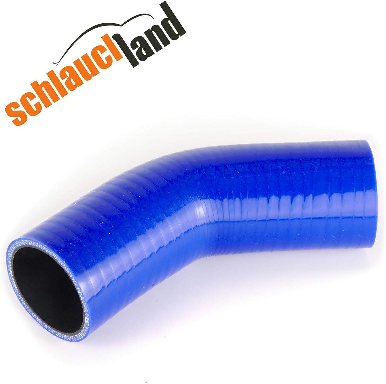 Silikonschlauch 45/° Innendurchmesser 76mm blau ***