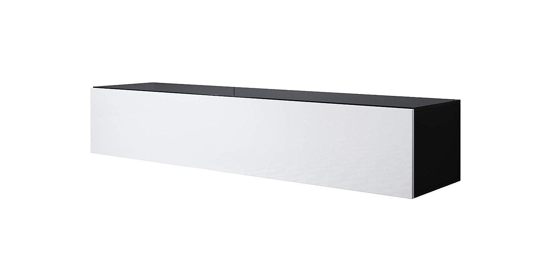 Mueble TV Modelo Luke H2 (160x30cm) Color Negro y Blanco ...