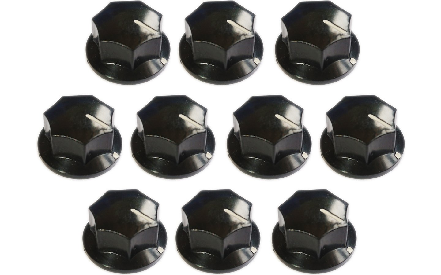 Actopus 10PCS Pot Radio Knobs Audio Knob Replacement 33x18mm Shaft Hole 6mm for Electronic Volume Control
