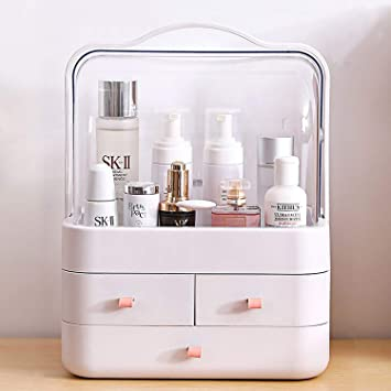 Bleu Xkfgcm Uncluttered Designs L/'Organisateurs de Maquillage Organiseur Maquillage bo/îte de Rangement Maquillage pour Produits de Maquillage Rangement Make up id/éal