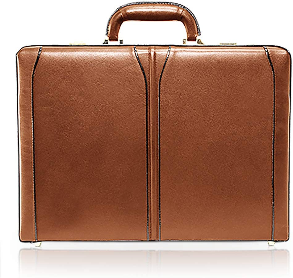 McKlein, V Series, Turner, Top Grain Cowhide Leather, Leather 4.5 Expandable Attach Briefcase, Brown 80484