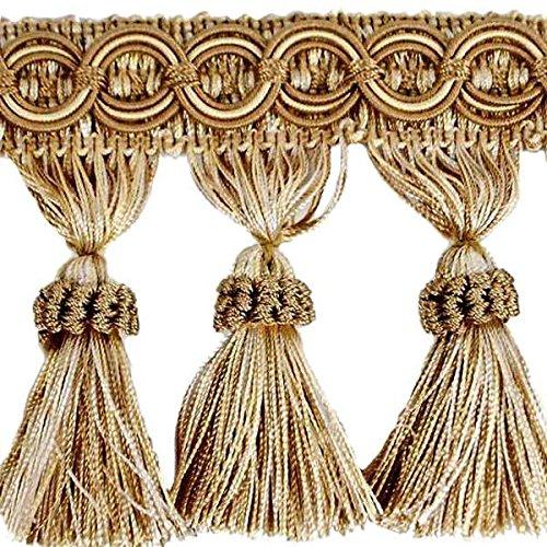 Expo International Kylie Classic Tassel Fringe Trim Embellishment, 10-Yard, (Loop Braid Fabric Trim)