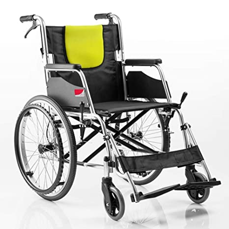 cmn Silla de ruedas vieja de aleación de aluminio con ...