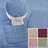 Madison Industries Reflections Wall to Wall Bathroom Carpeting, 5' x 8', Cut to Fit, Blue