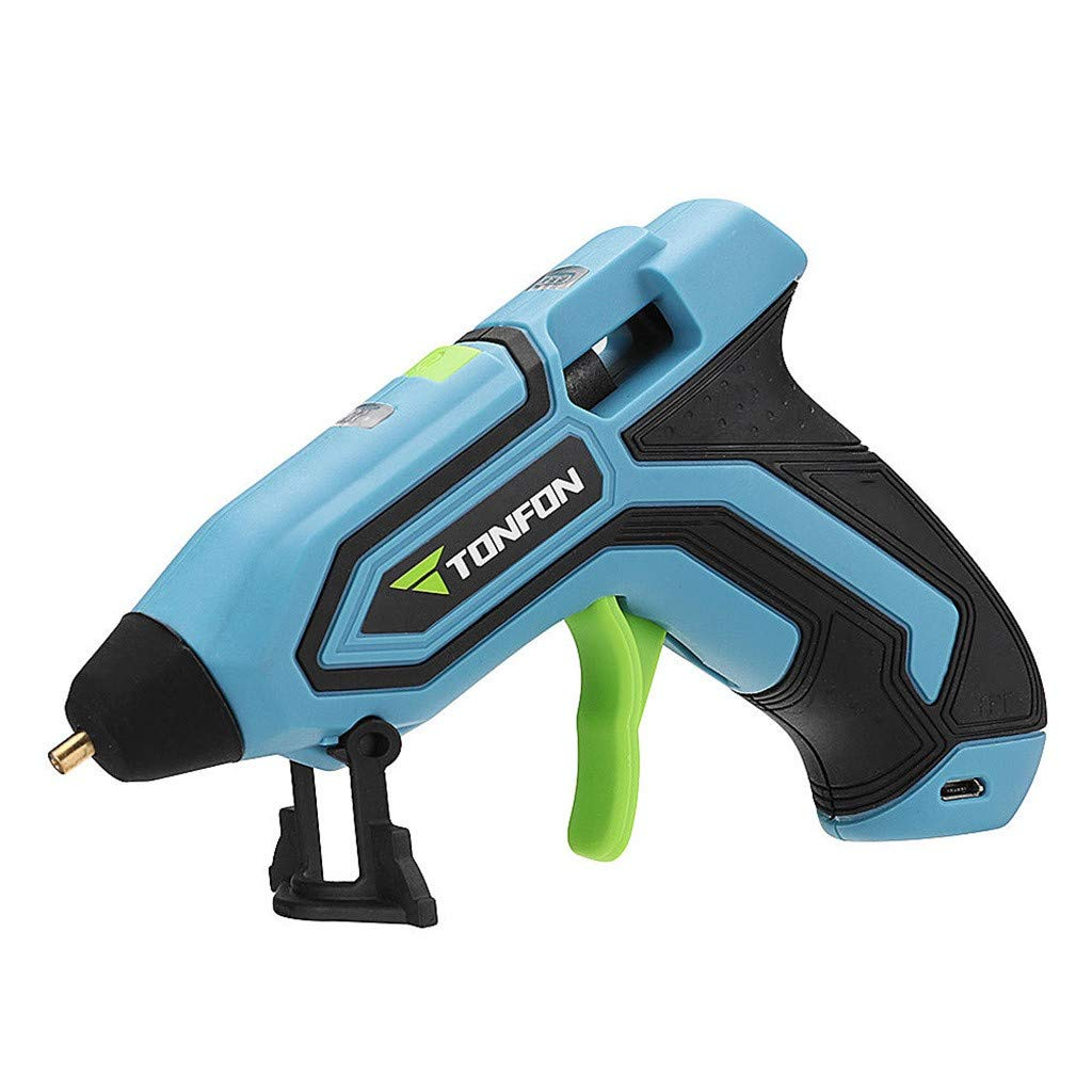 Tandon 3.6V Cordless Hot Glue Gun USB Rechargeable Melt Glue Tool Kits with 10 Glue Sticks for XIAOMI (Blue)