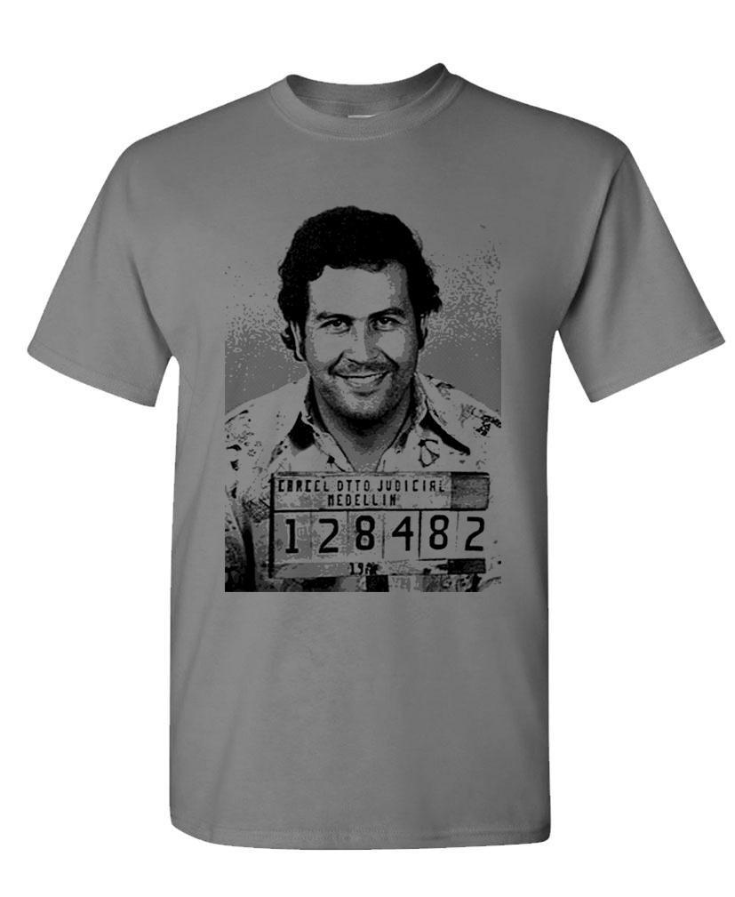 Hood Ornaments Pablo Escobar Drug Cartel Kingpin Cocaine Mens Shirts