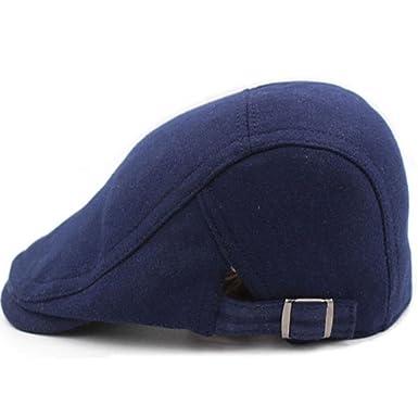 392976f163a7e Boina de hombre Ocio coreano cap Cap de la pareja-A ajustable  Amazon.es   Ropa y accesorios